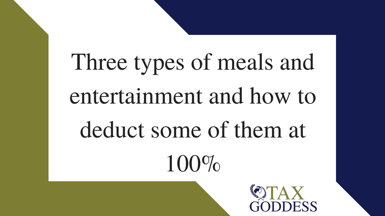 Three Types Of Meals And Entertainment And How To Deduct Some Of Them At 100%