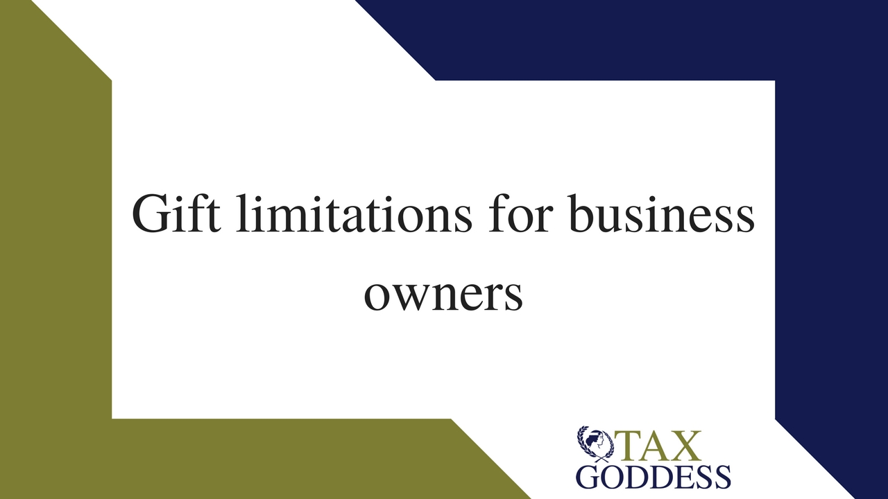Gift Limitations For Business Owners