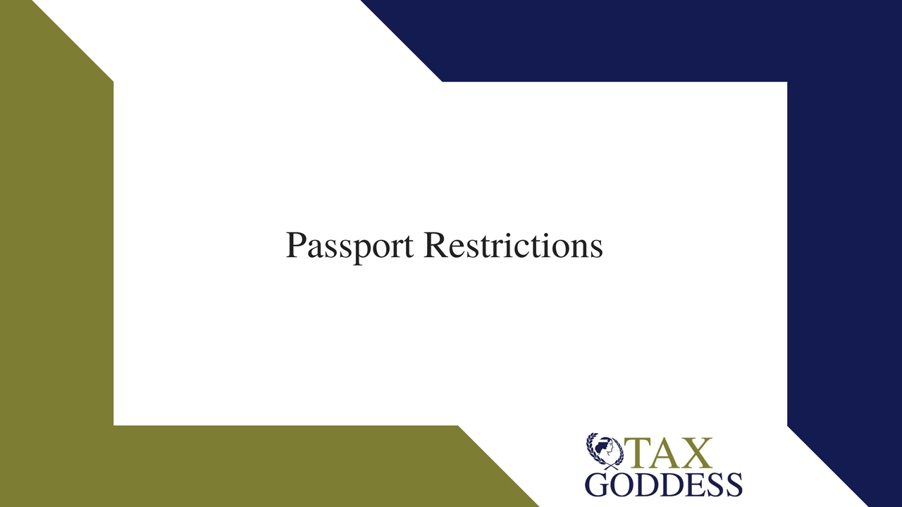Passport Restrictions