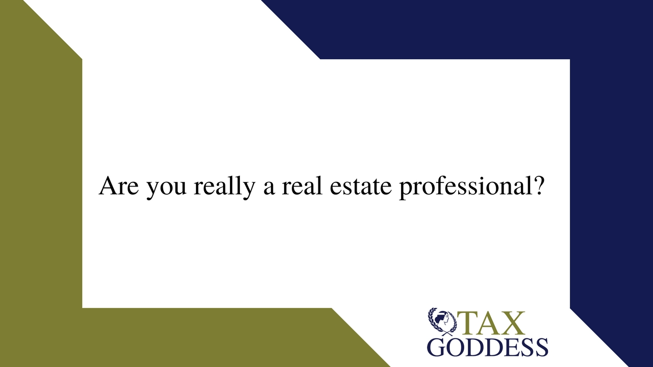 Are You Really A Real Estate Professional?